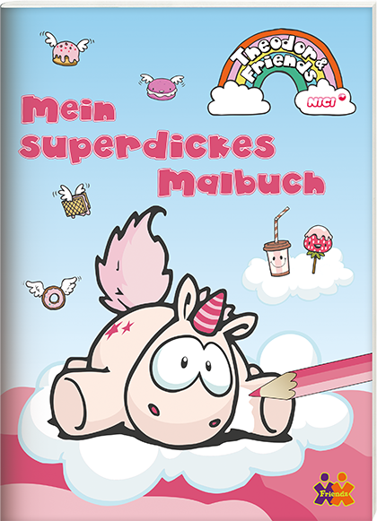 Theodor & Friends. Mein superdickes Malbuch