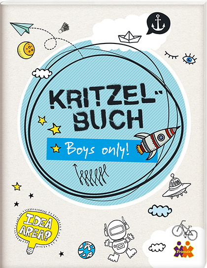 Kritzelbuch. Boys only!